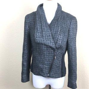 Cache Women's Gray & Black MotoJacket Wool HE